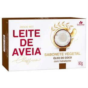 Sabonete Vegetal Leite de Aveia Óleo de Coco 90g - Davene