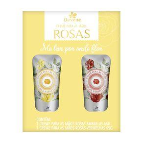 Kit Duo Creme de Mãos Rosas Vermelhas e Rosas Amarelas - Davene