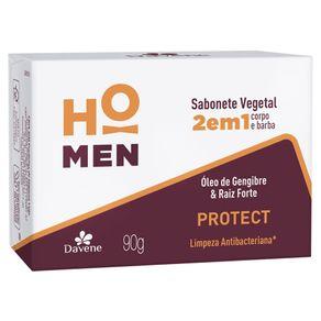 Sabonete Vegetal 2 em 1 Protect Antibac Ho Men 90g - Davene