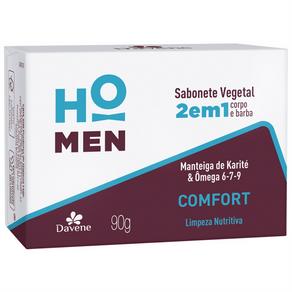 Sabonete Vegetal 2 em 1 Comfort Ho Men 90g - Davene