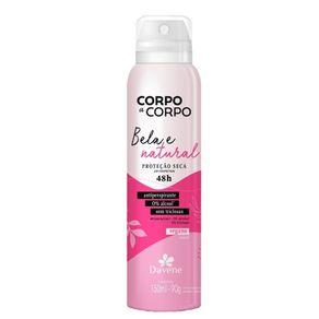 Desodorante Antiperspirante Aerossol Corpo a Corpo Natural 150ml - Davene