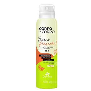 Desodorante Antiperspirante Aerossol Corpo a Corpo Frescor 150ml - Davene