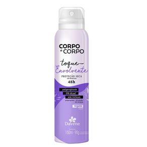 Desodorante Antiperspirante Aerossol Corpo a Corpo Envolvente 150ml - Davene
